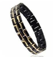 Турмалиновые браслет черный с магнитами 4В1