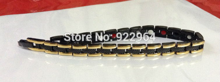 Турмалиновый магнитный браслет Змейка Черная 4В1