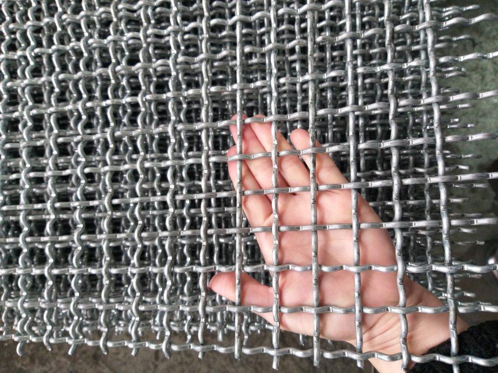 Купить Сетка сложно рифленая (канилированная) 25*25 мм 2*1 м, диаметр 2,5 мм без покрытия