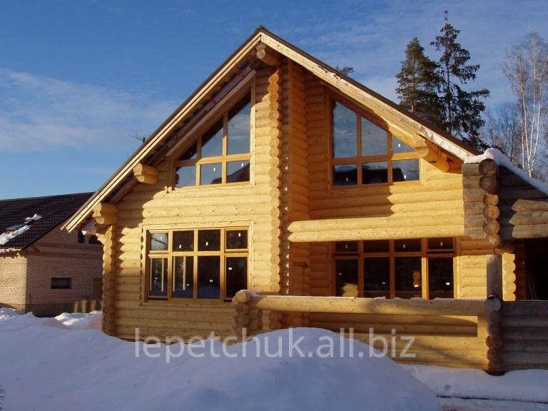 Купить Роскошные гостевые дома площадью 260 м2 из оцилиндрованного бревна (ОЦБ) O 240 мм