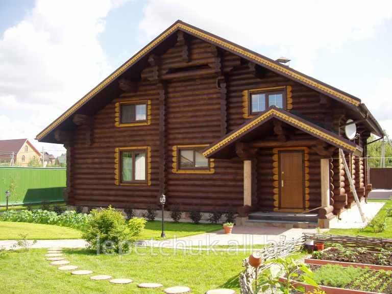 Купить Недорогие дачные домики из оцилиндрованного бревна (ОЦБ) O 200 мм