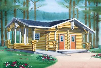 Купить Бревенчатый садовый дом