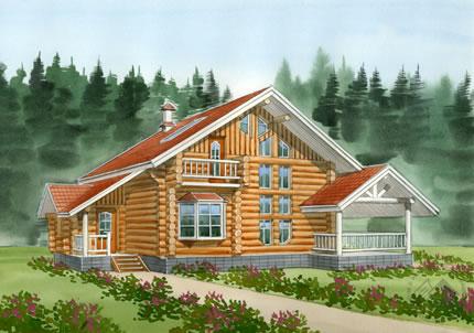 Купить Традиционный бревенчатый дом
