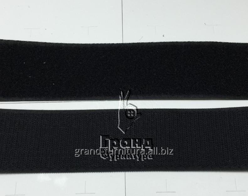 Липучка черная, 70 мм