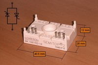 Модуль SEMITOP2 (однофазный AC-ключ) SK100KQ12