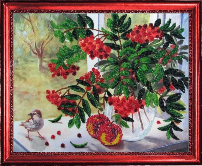 Набори для вишивання бісером Горобини мед ( по картині О. Воробйовій ... 441eecd26e18b