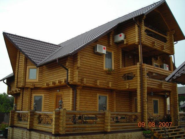 Дома деревянные, дома из оцилиндрованного бревна, вагонка, пиломатериалы, строительство Киев