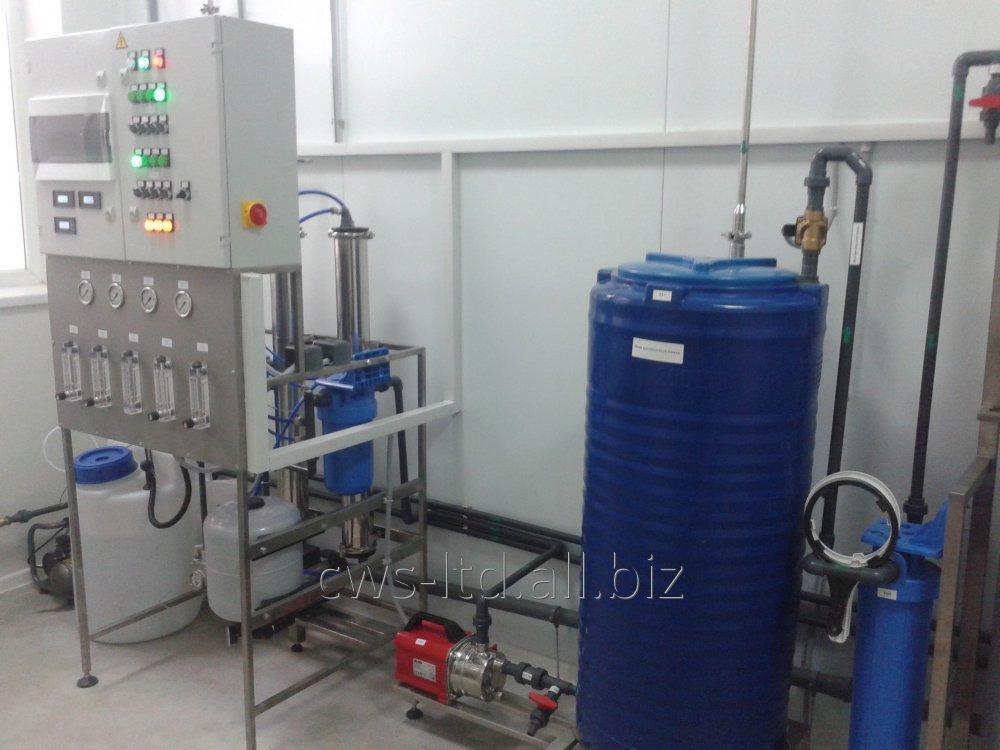 Оборудование для получения, хранения и распределения воды очищенной