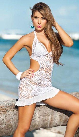 Ажурное пляжное платьице E-L1029