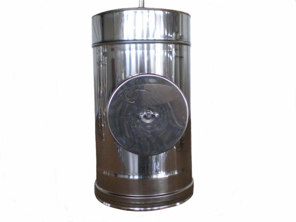 Ревизия нержавейка в оцинковке утепленная Ø120мм, толщина нержавейки 0,8мм