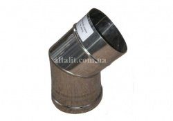 Buy Knee 45 corrosion-proof unary Ø150мм, stainless steel thickness 0,5mm