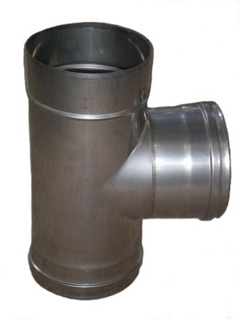 Buy Tee corrosion-proof unary Ø200мм, tilt angle 87 thickness of a stainless steel 1,0mm