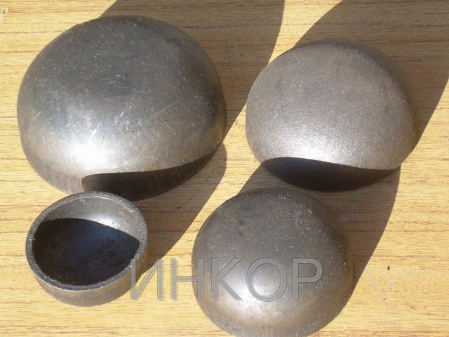Caps steel welded elliptic Du25 Du200