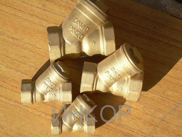 Фильтр косой осадочный сетчатый муфтовый бронзовый Ду15 Ду20 Ду32 Ду40