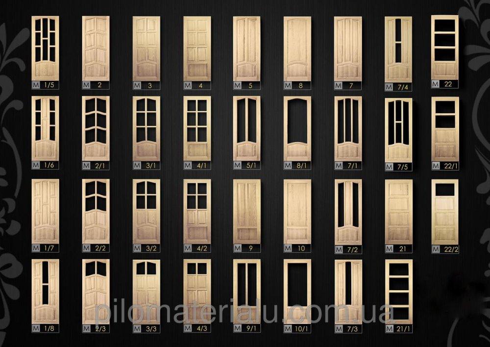 Двери деревянные неокрашенные из массива