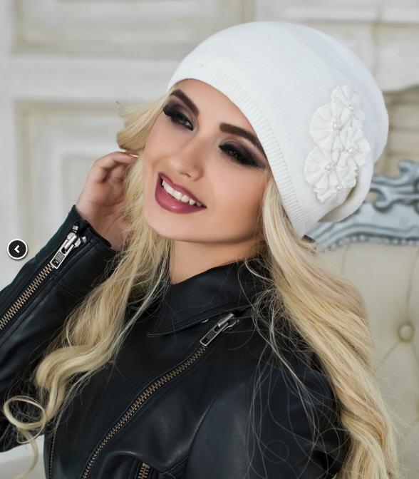 Купить Зимняя женская шапка «Каролин» оптом от производителя