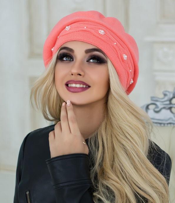 Зимовий жіночий берет «елеганс» оптом від виробника купити в ... 3f5ab4104340c