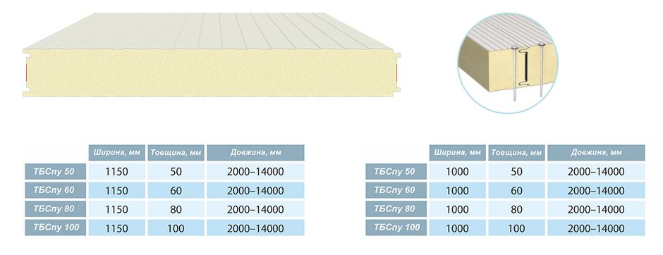 Buy The sandwich panel wall with the ordinary lock - classical TBSPU the 50th width is 1000 mm