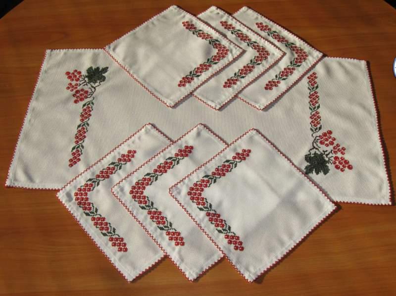 Вышивка на салфетках своими руками