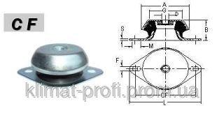Купить Резиново-металлические виброопоры, тип CF 924512 М12 60sh