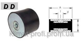 Купить Резиновые виброопоры, тип DD 40х30 60sh М 8х23 мм