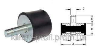 Купить Резиновые виброопоры, тип VD 50х40 60sh М 10х23 мм