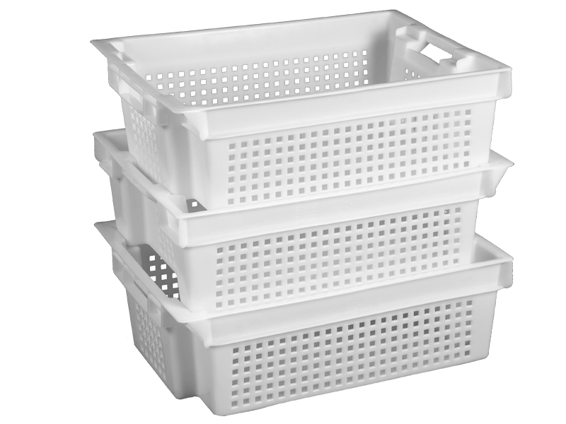Buy Box plastic 600х400х200 perforated conical
