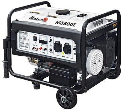 Однофазный бензиновый генератор Matari M3800E (3 кВт)