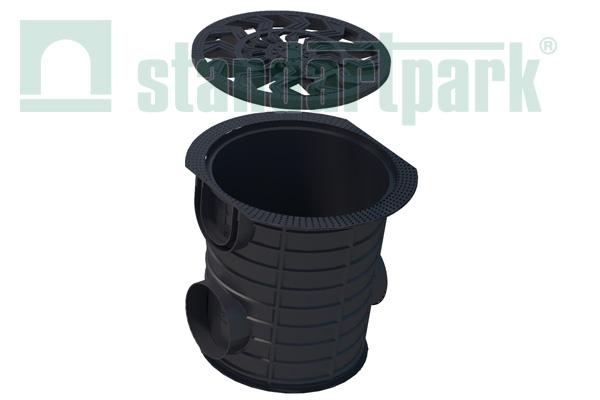 Buy Set: a dozhdesbornik plastic round S'park Ø327мм with a plastic lattice of Artikul:08382