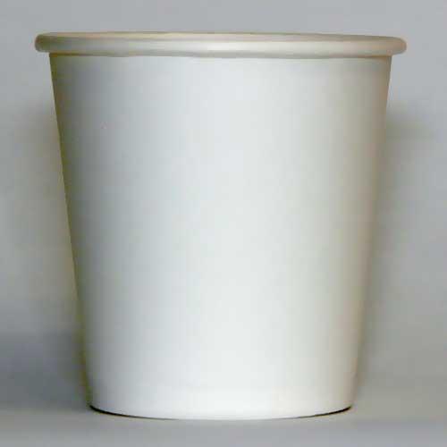 Стаканы бумажные чисто белые плотность 195