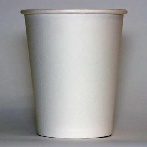 Стаканы бумажные чисто белые плотность 205