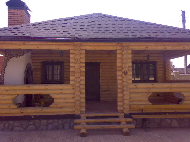 Баня деревянная из бревна