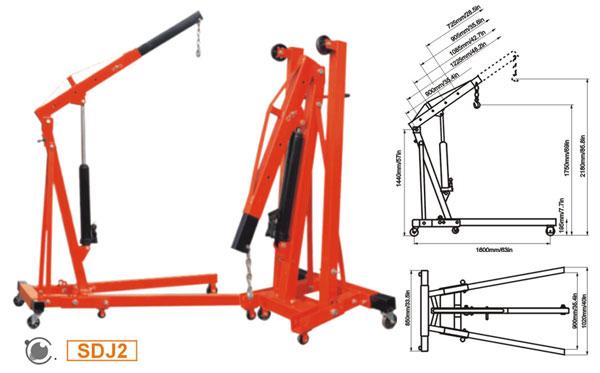 Кран-стрела гидравлический Shop Crane--SDJ2