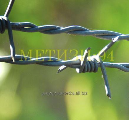 Купить Проволока колючая двухосновная (усиленная) д 2,0 мм ТУ У 271-136-001-2002