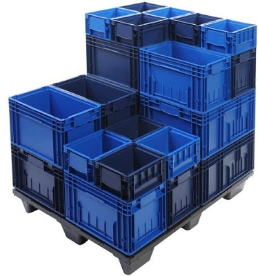 """Складские контейнеры для хранения и перемещения грузов на складе от компании """"Семирозум Проект""""."""