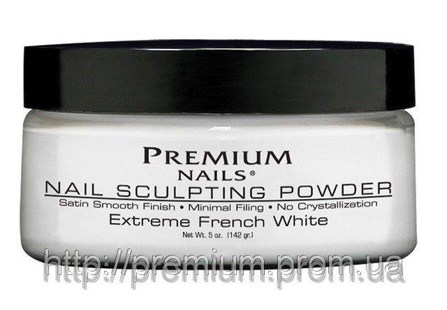 Акриловая пудра Premium Extreme French White яркая белая, 142 г