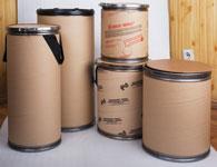 Картонные навивные барабаны, бочки картонные, картонно-навивные бочкиот 25 до 450л.