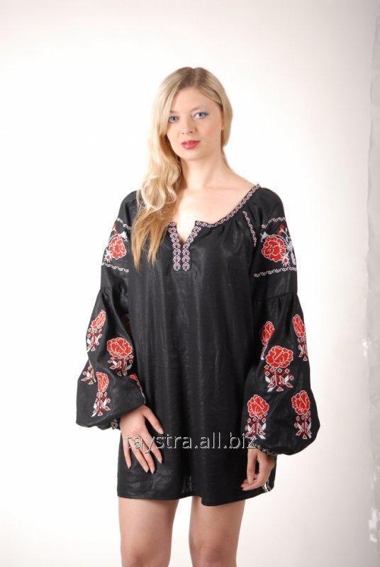 Вышитое платье - туника в Бохо-стиле