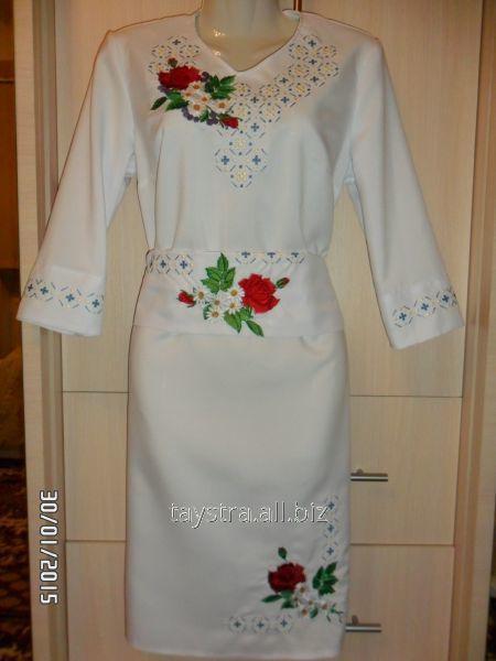 Плаття жіноче з поясом  (вишиванка)