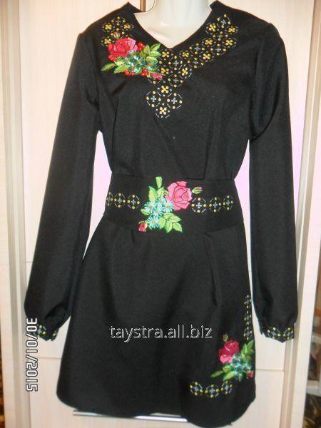 Плаття жіноче з поясом  (вишиванка) ПЖ 152