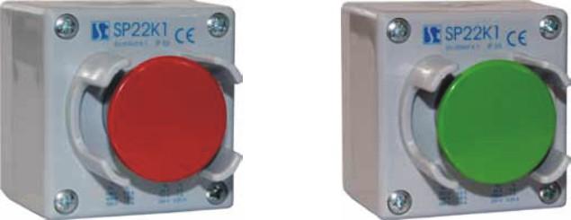 Пост кнопочный SP22-K1\25 с защитой кнопки от случайного нажатия. СПАМЕЛ. Лучшие цены