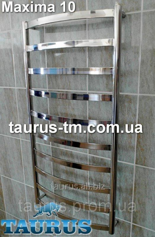 Buy The Maxima 10/450 heated towel rail in a bathroom height is 1050 mm.