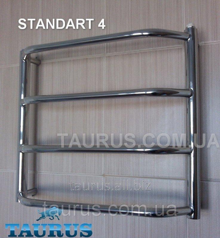 Купить Компактный Полотенцесушитель водяной Standart 4. Ширина 450 мм.