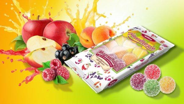 Мармелад Тм Клим желейный 5 вкусов в одной коробке ЭКСПОРТ