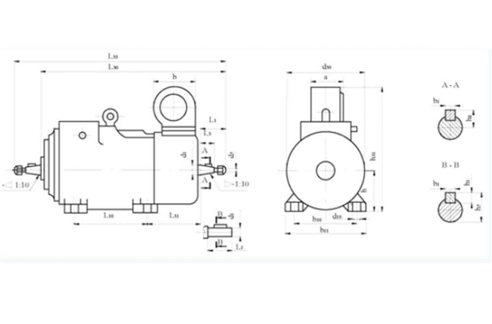 Электродвигатели трехфазные асинхронные крановые МТКНФ, 4МТКМФ