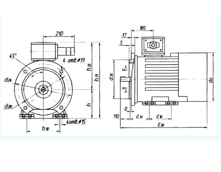 Двигатели асинхронные взывозащищенные АИМР160, АИМР180