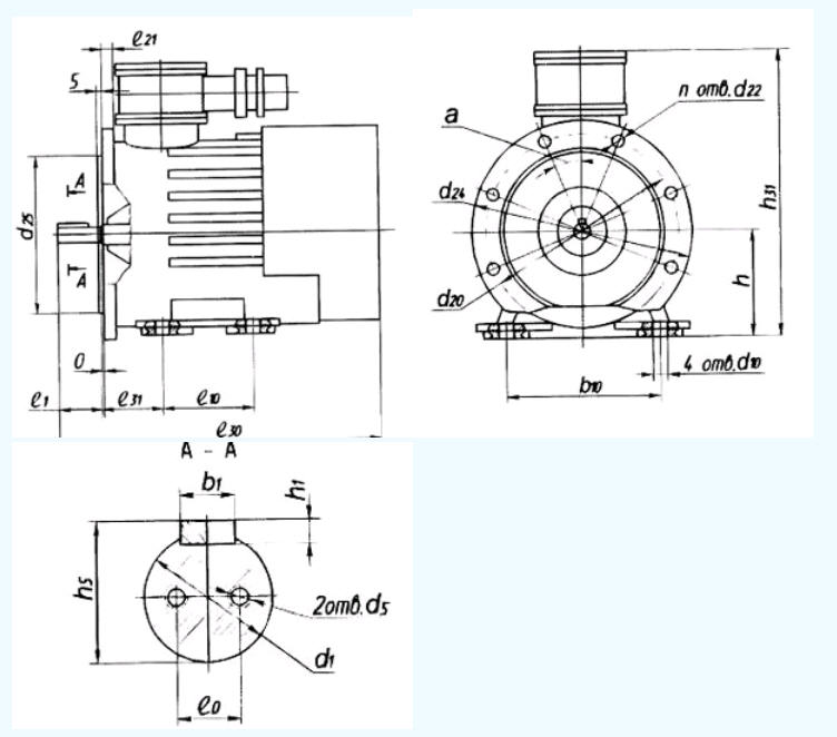 Двигатели асинхронные взрывобезопасные, рудничные типа ВРП160-225, ВРПВ160-225