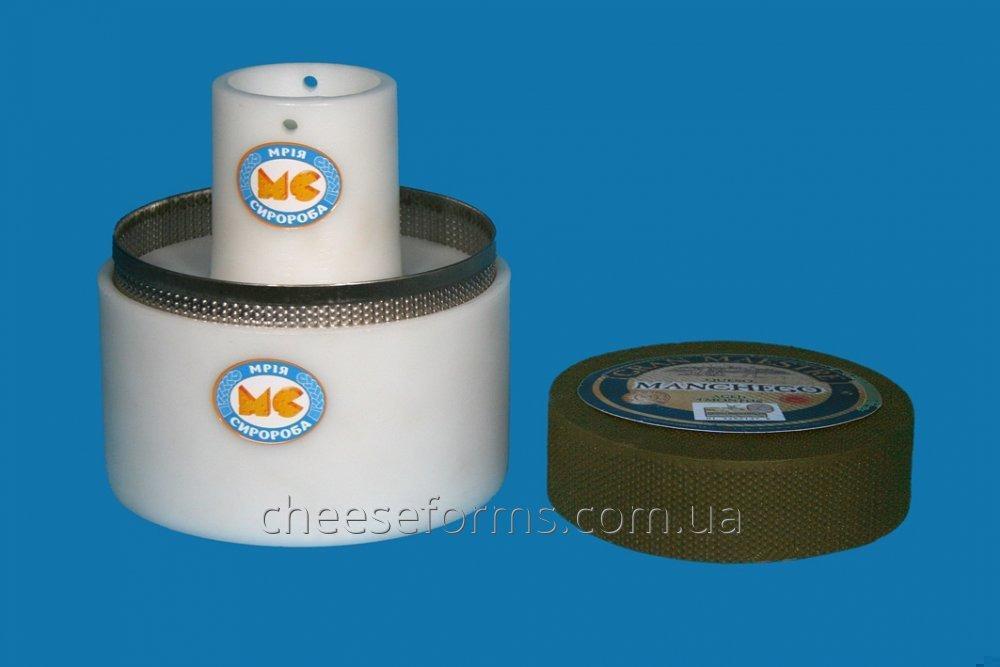 """Форма с сеткой для сыра круглого до 3 кг типа """"Манчего"""""""