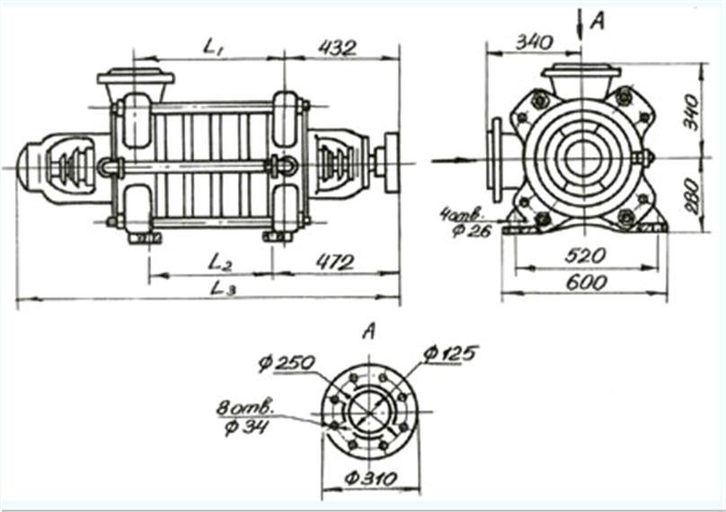Электронасосы ЦНС 60-50... 250, ЦНСН 60-50... 250