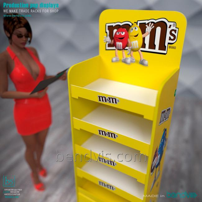 Торговая стойка M&Ms